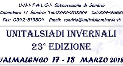Unitalsiadi invernali 23^ edizione – Valmalenco, 17-18 marzo 2018