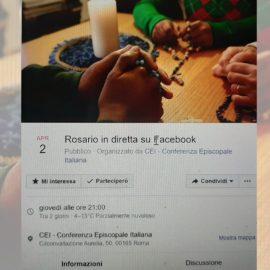 Il Rosario Cei su Facebook il 2 aprile alle 21