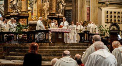 Caravaggio, il pellegrinaggio regionale dei preti anziani e malati