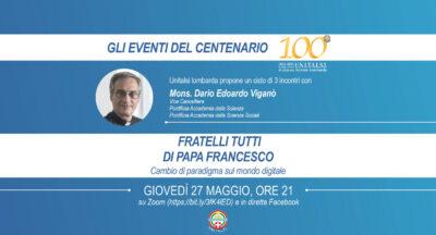 Gli Eventi del Centenario, con Mons. Viganò – Video del terzo incontro